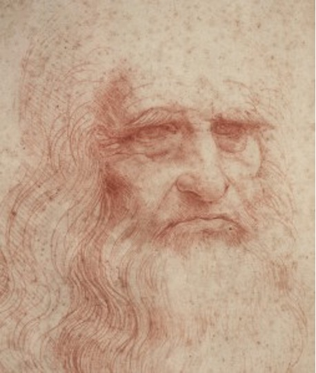 Leonardo autoritratto grafologia